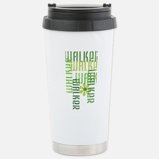 Green Walker Stainless Steel Travel Mug