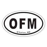 OFM O'Fallon Missouri Euro Oval Sticker