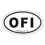 OFI O'Fallon Illinois Euro Oval Sticker