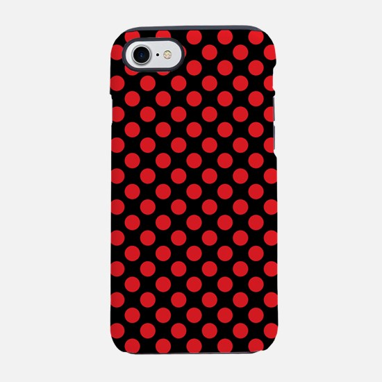 Red Polka Dots iPhone 7 Tough Case