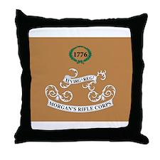 Morgan's Rifle Corps Flag Throw Pillow