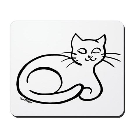 Smiling Cat Mousepad