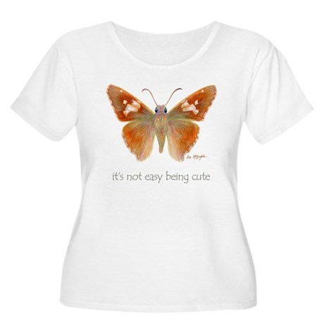 cute butterfly Women's Plus Size Scoop Neck T-Shir