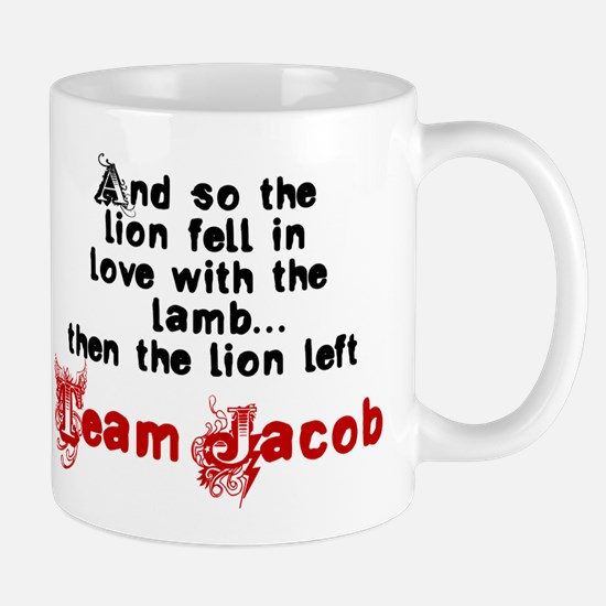Team Jacob The lion left Mug