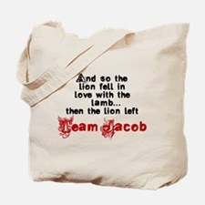 Team Jacob The lion left Tote Bag