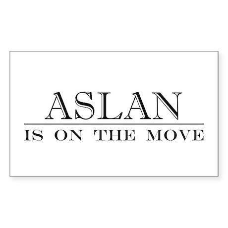 Aslan Rectangle Sticker