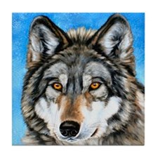 Painted Wolf Tile Coaster