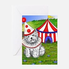 Circus Westie Greeting Card