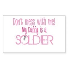 Don't mess with me - pink Rectangle Decal