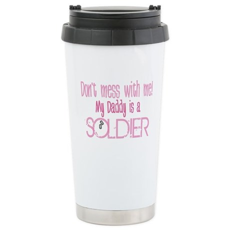Don't mess with me - pink Stainless Steel Travel M