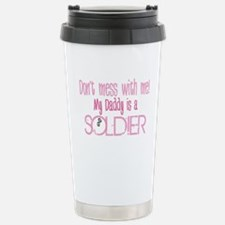 Don't mess with me - pink Travel Mug