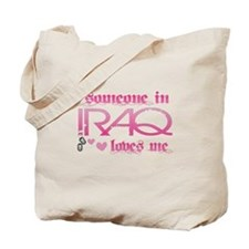 someone in Iraq - pink Tote Bag