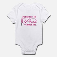 someone in Iraq - pink Infant Bodysuit