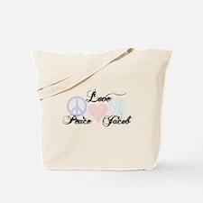 Peace love Jacob Black Tote Bag