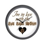In love with big bad wolf Wall Clock