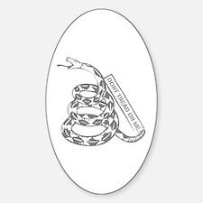 Cooper Snake DTOM (Gray) Oval Decal