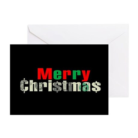 MERRY CHRI$TMA$ Greeting Cards (Pk of 10)