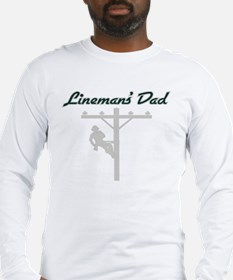 Lineman's Dad Long Sleeve T-Shirt