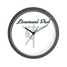 Lineman's Dad Wall Clock