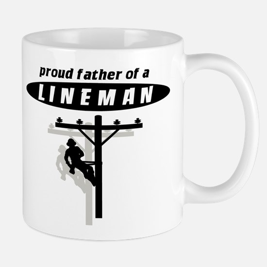 proud father of a lineman with shadow Mugs