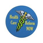 Big Health Care Reform Caduceus Button