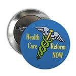 Caduceus Health Care Reform Button