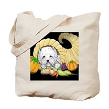 Thanksgiving Westie Tote Bag
