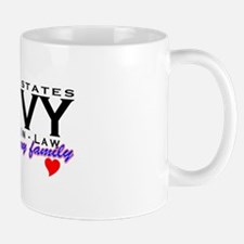 US Navy Father In Law Mug