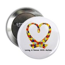 Loving A Person with Autism Pin