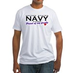 US Navy Father Fitted T-Shirt