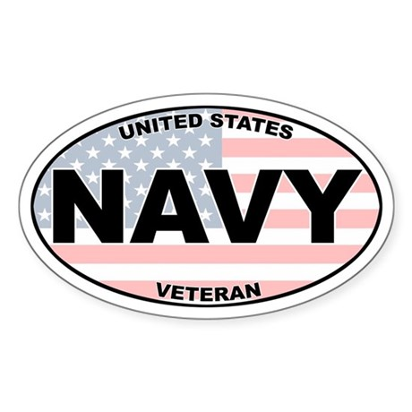 US Navy Oval Sticker