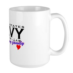 US Navy Mother-In-Law Large Mug