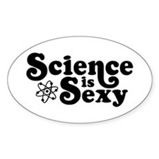 Science is Sexy Oval Stickers