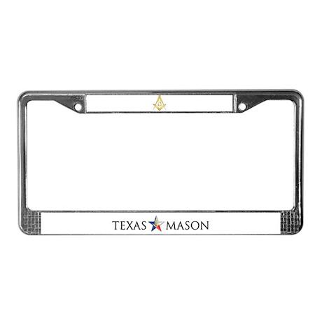 License Plate Frame Texas Mason
