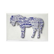 I LOVE HORSES Rectangle Magnet