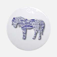 I LOVE HORSES Ornament (Round)