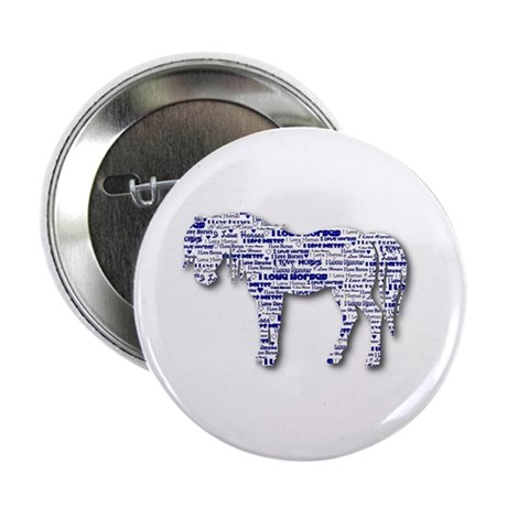 """I LOVE HORSES 2.25"""" Button (10 pack)"""