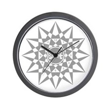 Gray Face B0129 Wall Clock