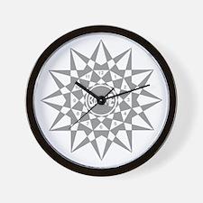 Gray Face B0129 Wall Clock