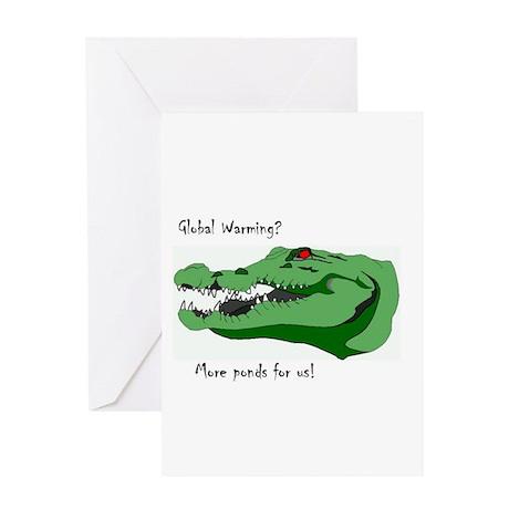 Global Warming Alligator Greeting Card