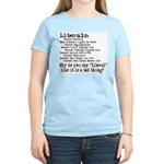 Why do you say liberal like i Women's Pink T-Shirt