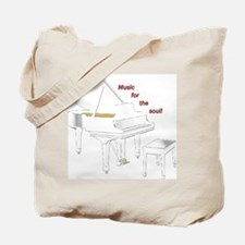 Music for the Soul (white piano) Tote Bag