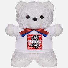 I Love Mississippi Railroads Teddy Bear