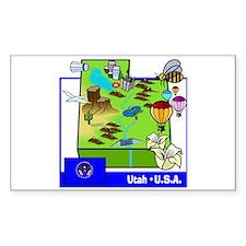 Utah Map Rectangle Decal