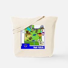 Utah Map Tote Bag