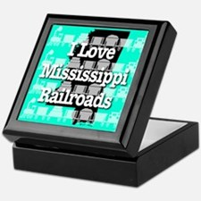 I Love Mississippi Railroads Keepsake Box