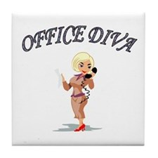 Cute Office administrator Tile Coaster