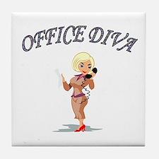 Cute Funny boss Tile Coaster