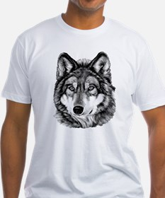 Painted Wolf Grayscale Shirt