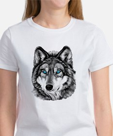 Painted Wolf Grayscale Women's T-Shirt
